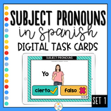 Subject Pronouns in Spanish - Boom Cards Set 1 - Distance Learning