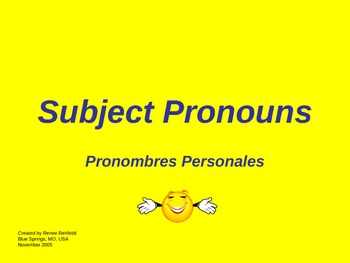 Subject Pronouns in Spanish - PowerPoint Lesson