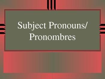 Subject Pronouns in Spanish, Pronombres