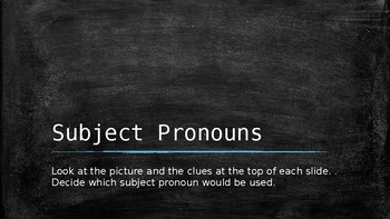 Foreign Language and ESL Subject Pronouns practice