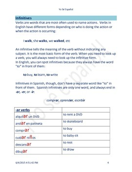 Subject Pronouns,Conjugation of Verbs and more
