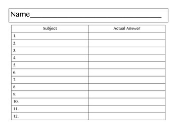 Subject QR Task Cards