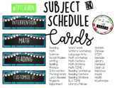 Subject & Schedule Cards (EDITABLE) RUSTIC BLUE WOOD