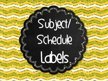 FREE Chalkboard Subject Schedule Labels