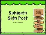 Subject Sign Post -Camping