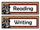 Subject Signs - Raccoon Theme - Woodland Theme