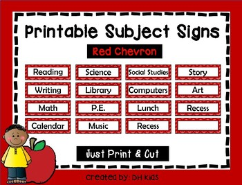 Subject Signs - Red Chevron
