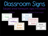 Subject Signs with Spiral Background