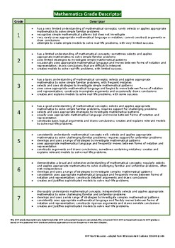 Subject Specific Grade Descriptors for MYP