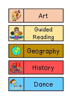 Subject Timetable Labels