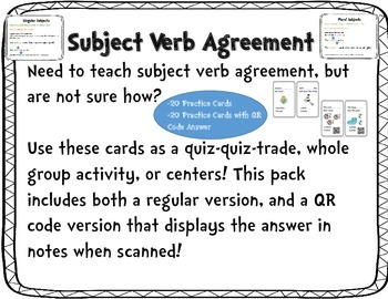Subject verb agreement by elementary energy station tpt subject verb agreement ibookread Read Online