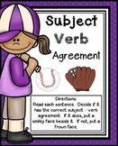 Subject Verb Agreement Activities | Subject Verb Agreement Practice