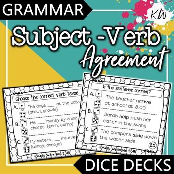 Grammar: Subject Verb Agreement Game
