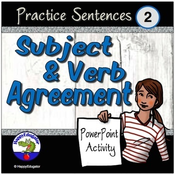 Subject Verb Agreement 2 Interactive Self Checking PowerPoint