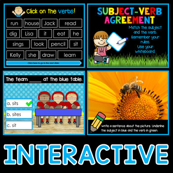 Subject Verb Agreement PowerPoint and Worksheets