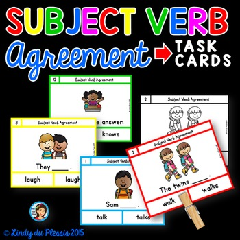 Identify Subject And Verb Teaching Resources Teachers Pay Teachers