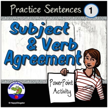 Subject Verb Agreement - Practice Resource Bundle
