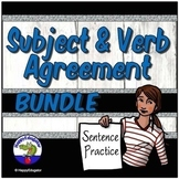 Subject Verb Agreement PowerPoints and Worksheets Practice Resource Bundle