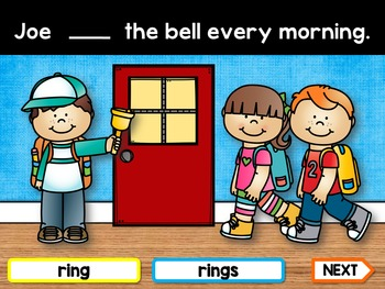 Subject Verb Agreement PowerPoint Game