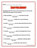 Subject Verb Agreement 3 pages 8 questions each page.