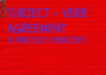 Subject-Verb Agreement 31 Exercises