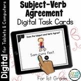 Subject-Verb Agreement Activities: Digital Task Cards for