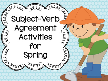 Subject-Verb Agreement Activities for Spring
