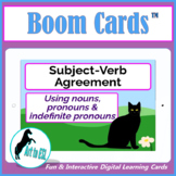 Subject Verb Agreement - BOOM CARDS™  - ELL ESL
