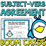 Subject-Verb Agreement Boom Cards (Digital Task Cards) for Third Graders
