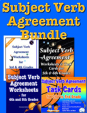 Subject Verb Agreement Bundle - 2nd to 6th Grade Worksheet