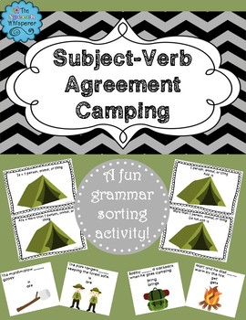 Subject-Verb Agreement Camping