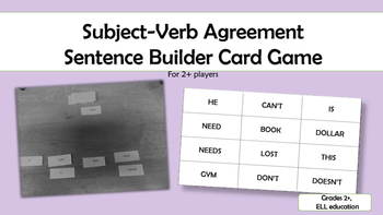 Subject-Verb Agreement Card Game