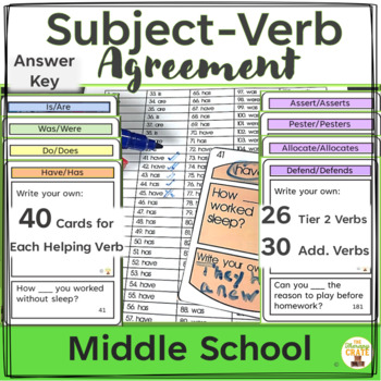 Subject-Verb Agreement Cards
