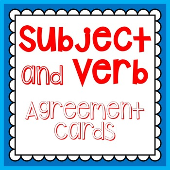 Subject Verb Agreement Cards