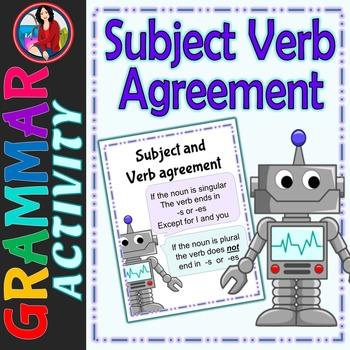 Subject Verb Agreement Center Activity