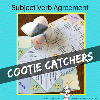Subject Verb Agreement Cootie Catchers