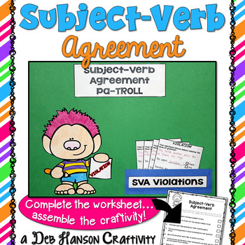 Subject-Verb Agreement Craftivity