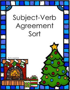 Subject Verb Agreement Cut and Sort