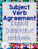 Subject Verb Agreement Digital Interactive Notebook
