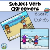 Subject-Verb Agreement Distance Learning Boom Cards