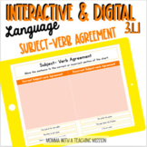 Subject-Verb Agreement Distance Learning Task Slides Googl