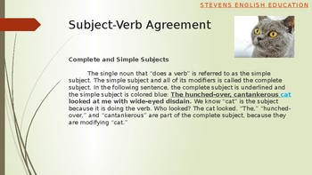 Subject-Verb Agreement Explanation, Exercises, Analysis, and Composition (B2+)