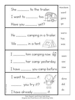 Subject / Verb Agreement (First Grade Grammar) by Angela ...