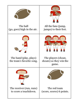 Subject Verb Agreement Football Game