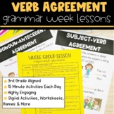 Subject Verb Agreement | Full Week Lesson Plans for Third Grade
