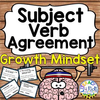 Growth Mindset Activities: Subject Verb Agreement Game