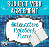 Subject Verb Agreement Interactive Notebook Pieces