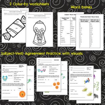 Subject-Verb Agreement Lesson and Activities for Special Education