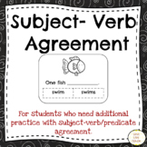 Subject-Verb Agreement Lesson and Activities for Special E