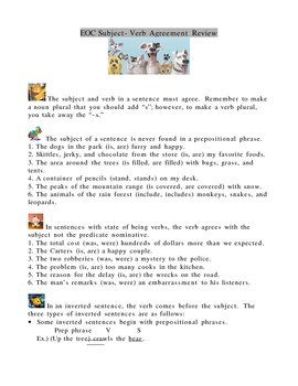 Subject-Verb Agreement Lesson and Quiz